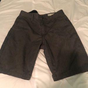Gray Volcom shorts for men in size 30